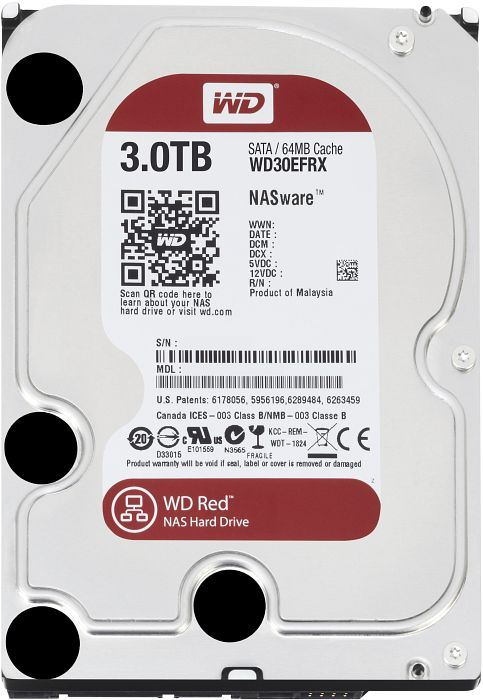 """3TB WD 3.5"""" SATA-III 64MB Red NAS winchester (WD30EFRX)"""