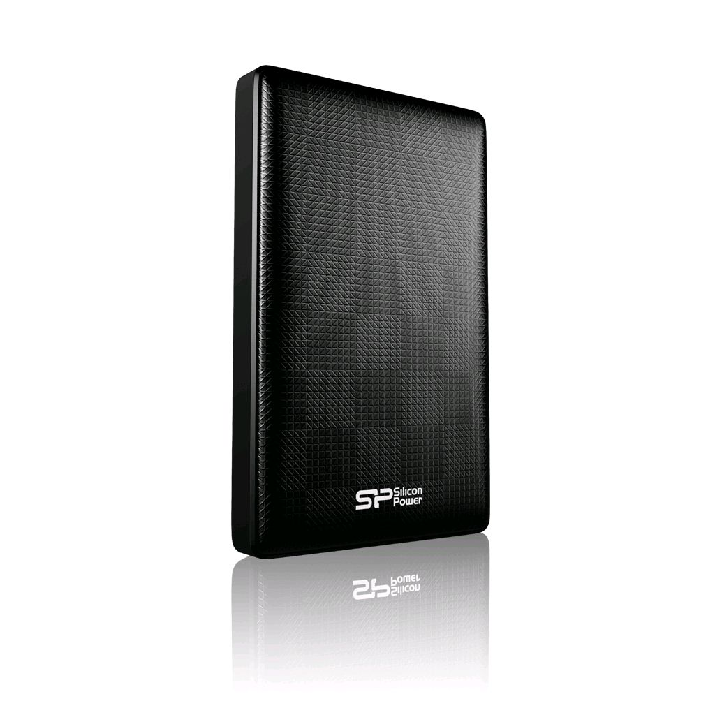 "1TB 2.5"" Silicon Power Diamond D03 USB 3.0  külső winchester fekete (SP010TBPHDD03S3K)"