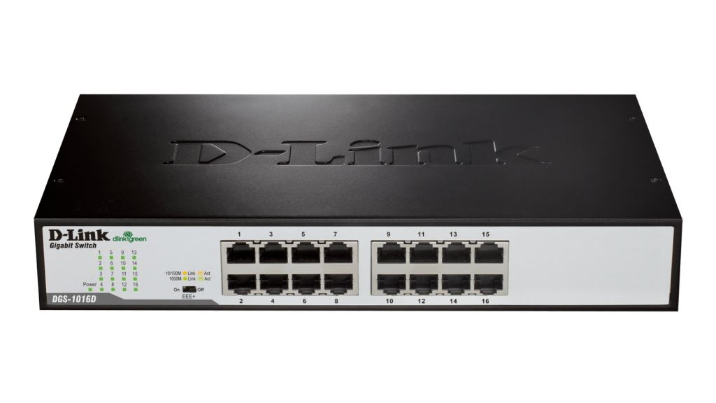 D-Link DGS-1016D  10/100/1000Mbps 16 portos Desktop switch