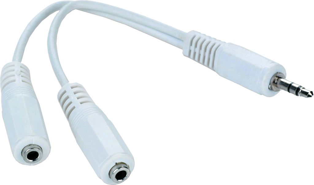 Gembird Cablexpert Adapter Stereo jack male 3.5 mm --> 2 x Stereo jack female 3.5 mm (CCA-415W)