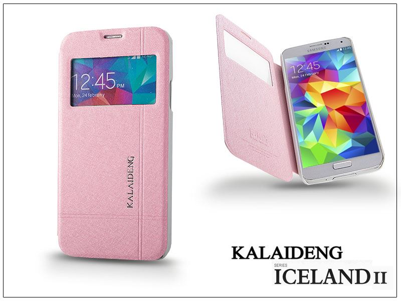 Kalaideng Iceland 2 Series View Cover Samsung SM-G900 Galaxy S5 flipes tok pink (KD-0158)