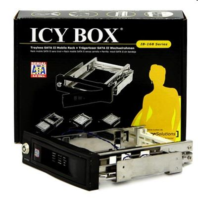 RaidSonic ICY BOX Mobile Rack IB-168SK-B SATA fekete