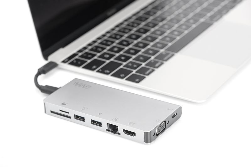 Digitus USB Type-C Multiport Travel Dock notebook dokkoló (DA-70866)