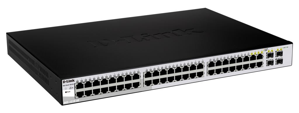 D-Link DGS-1210-48  10/100/1000Mbps 48+4 portos switch