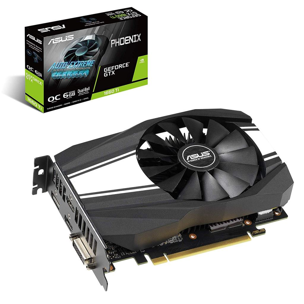 ASUS GeForce GTX 1660 Ti 6GB PH-GTX1660TI-O6G videokártya /90YV0CT0-M0NA00/