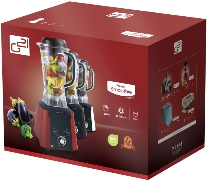 G21 PS-1680NGW Perfect smoothie Vitality turmixgép fehér