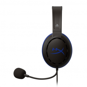 Kingston HyperX Cloud Chat (PS4 Licensed) 3,5 Jack gamer headset fekete  (HX-HSCCHS-BK/EM)