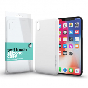 Xprotector Soft Touch Silicone Apple iPhone X tok fehér (114315)