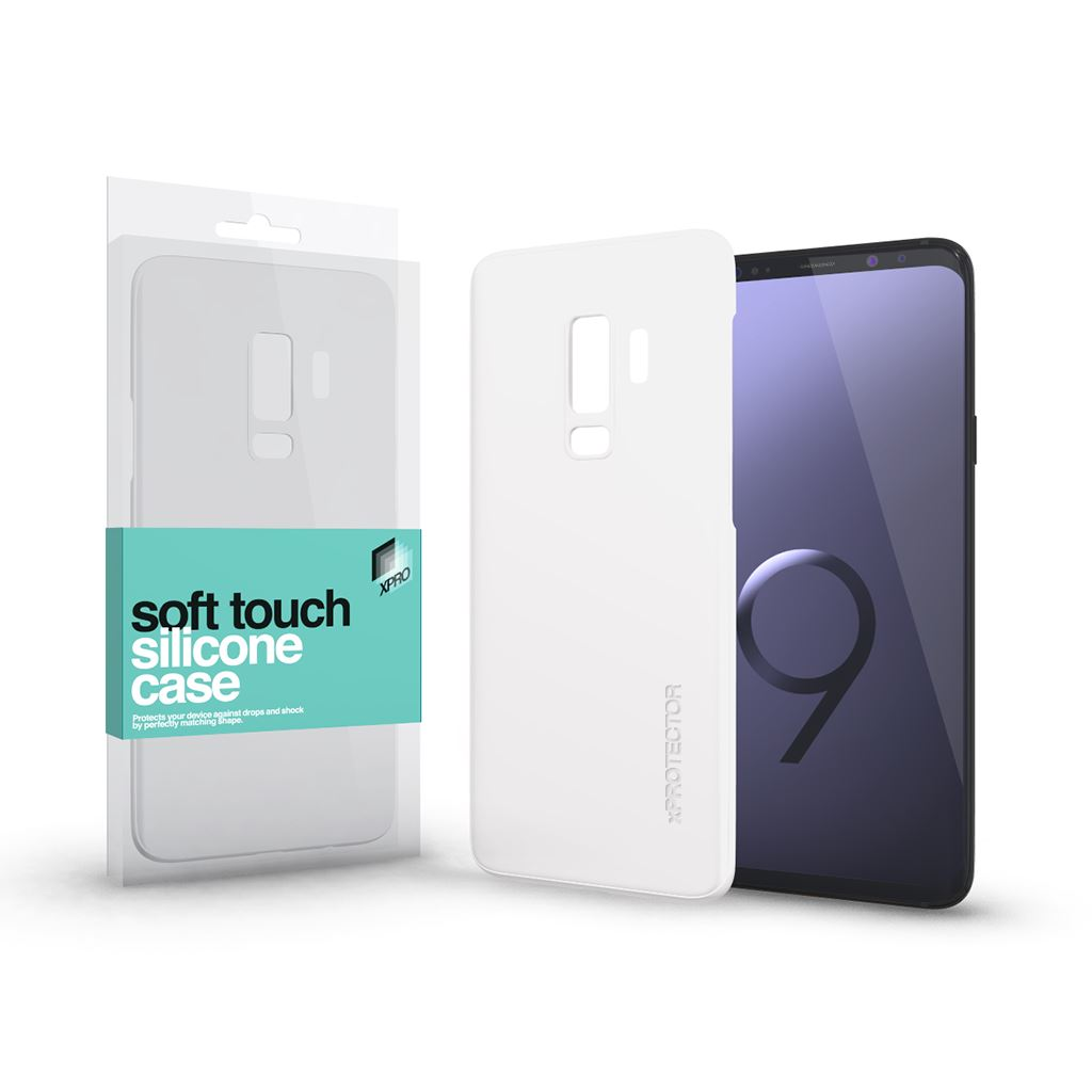 Xprotector Soft Touch Silicone Samsung S9+ tok fehér (115455)