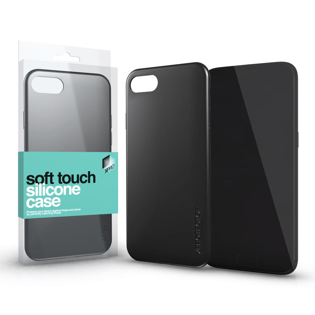 Xprotector Soft Touch Silicone Apple iPhone XS Max tok fekete (115400)