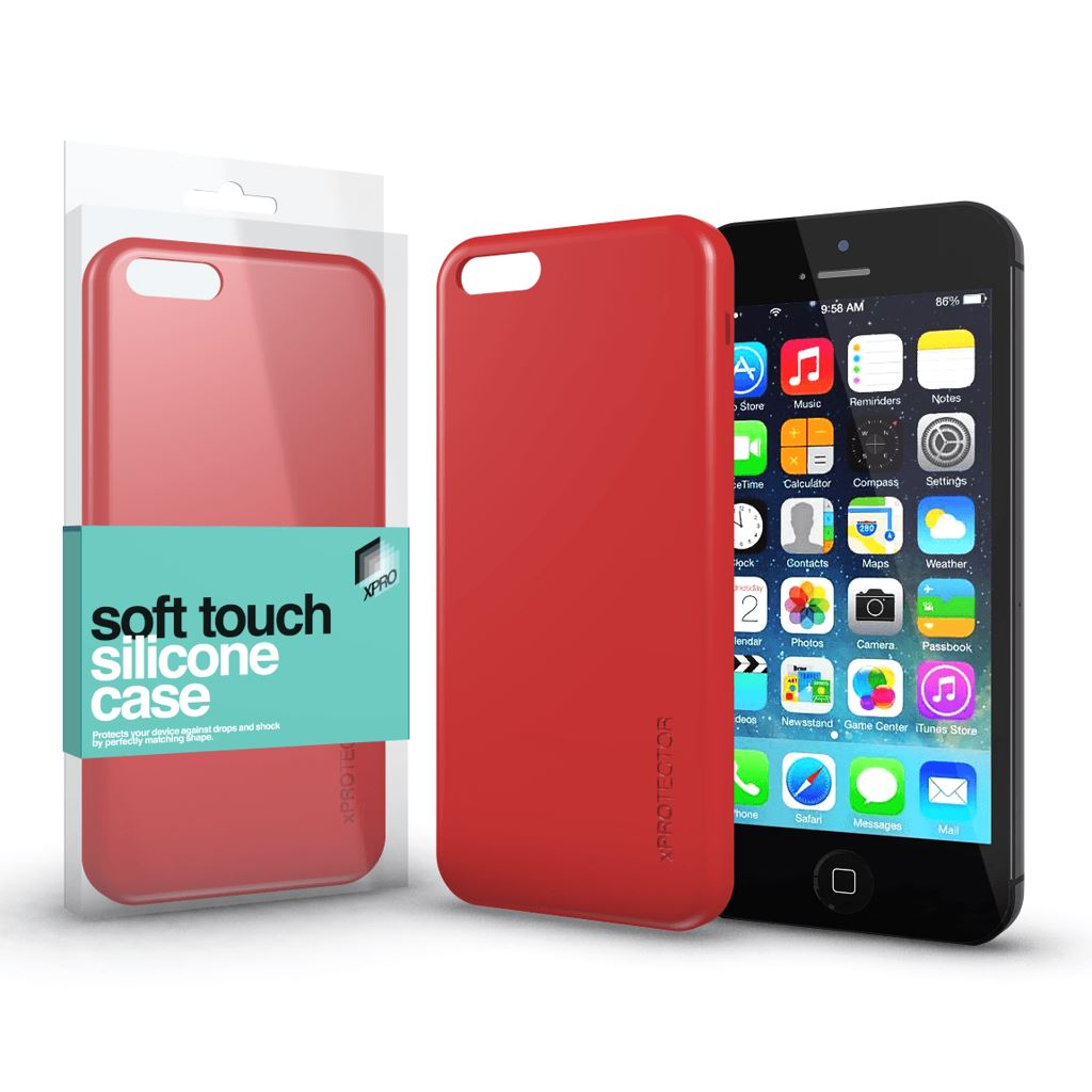 Xprotector Soft Touch Silicone Apple iPhone 5/5S/SE tok korallpiros  (114321)