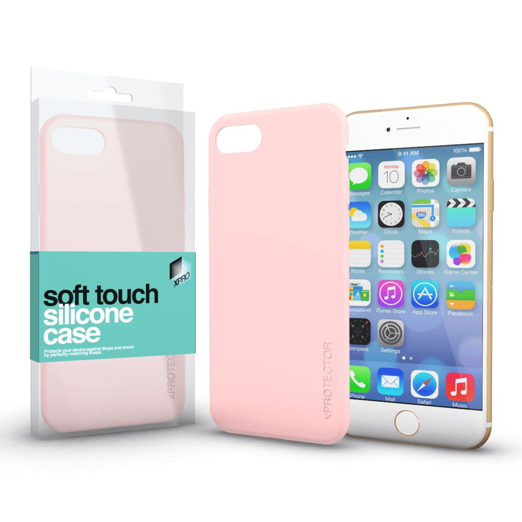 Xprotector Soft Touch Silicone Apple iPhone 6 Plus/6S Plus tok púder pink  (114338)