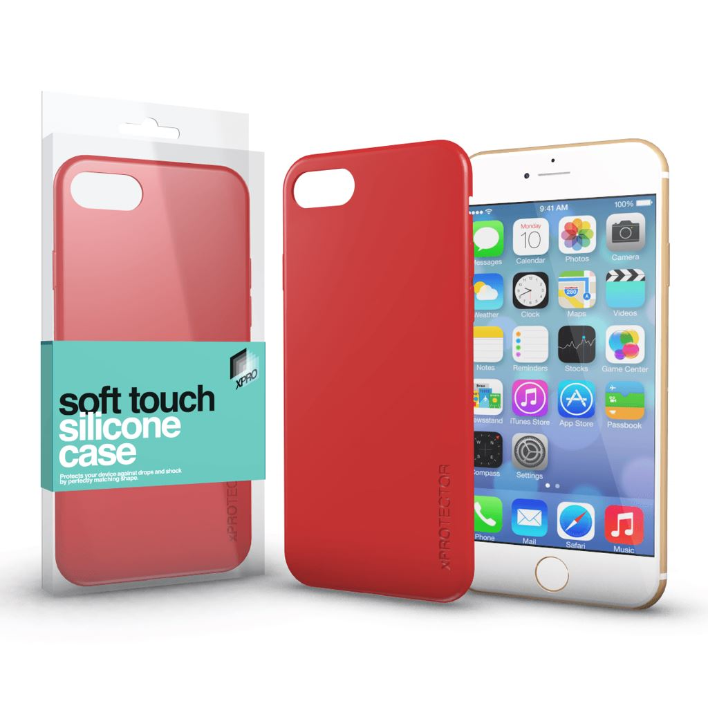 Xprotector Soft Touch Silicone Apple iPhone 7/8 tok korallpiros  (114324)