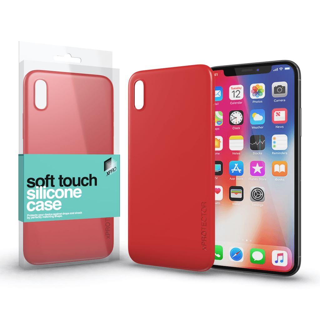 Xprotector Soft Touch Silicone Apple iPhone X tok korallpiros (114326)