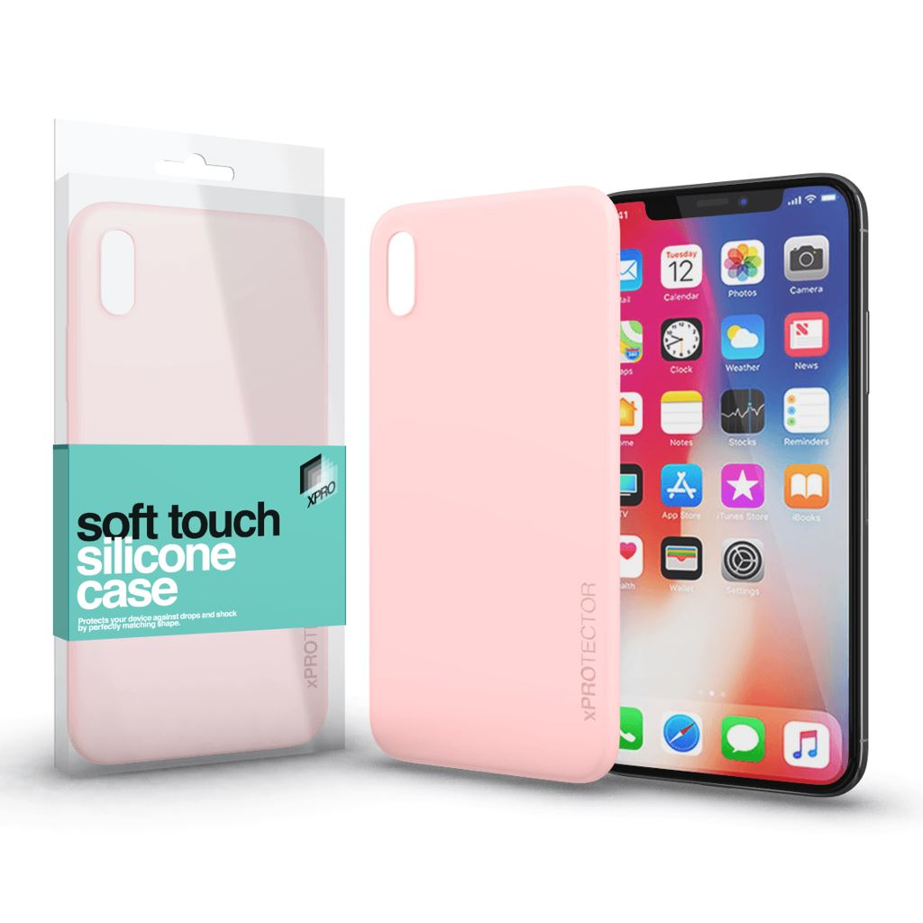 Xprotector Soft Touch Silicone Apple iPhone X tok púder pink (114341)