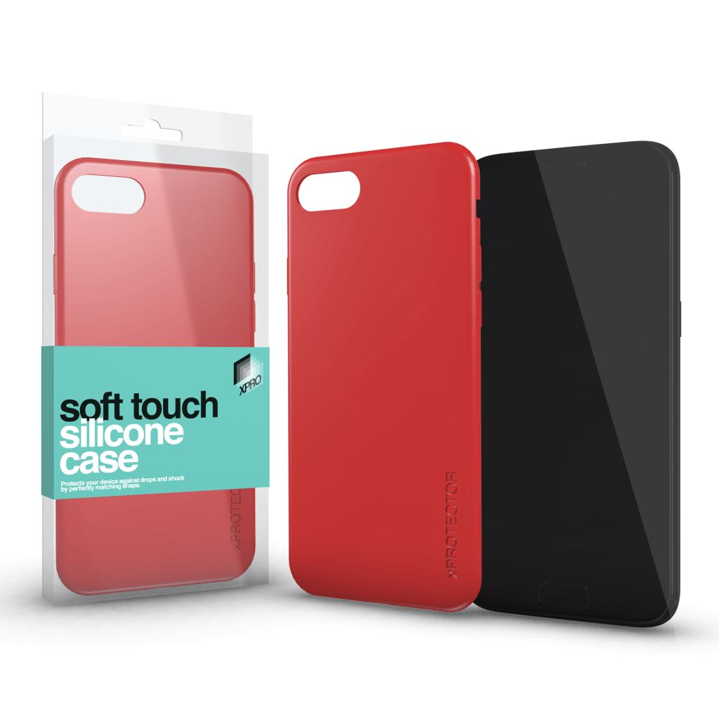 Xprotector Soft Touch Silicone Apple iPhone XS Max tok korallpiros (115403)