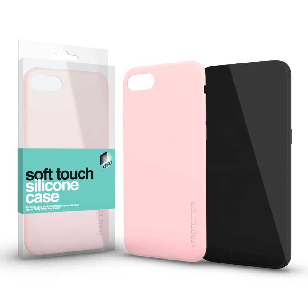 Xprotector Soft Touch Silicone Apple iPhone XS Max tok púder pink (115402)