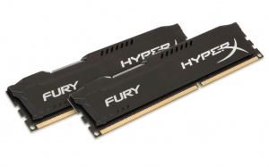 16GB 1600MHz DDR3 RAM Kingston HyperX Fury Black Series CL10 Kit (2x8GB) (HX316C10FBK2/16)