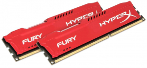 16GB 1600MHz DDR3 RAM Kingston HyperX Fury Red Series CL10 Kit (2x8GB) (HX316C10FRK2/16)