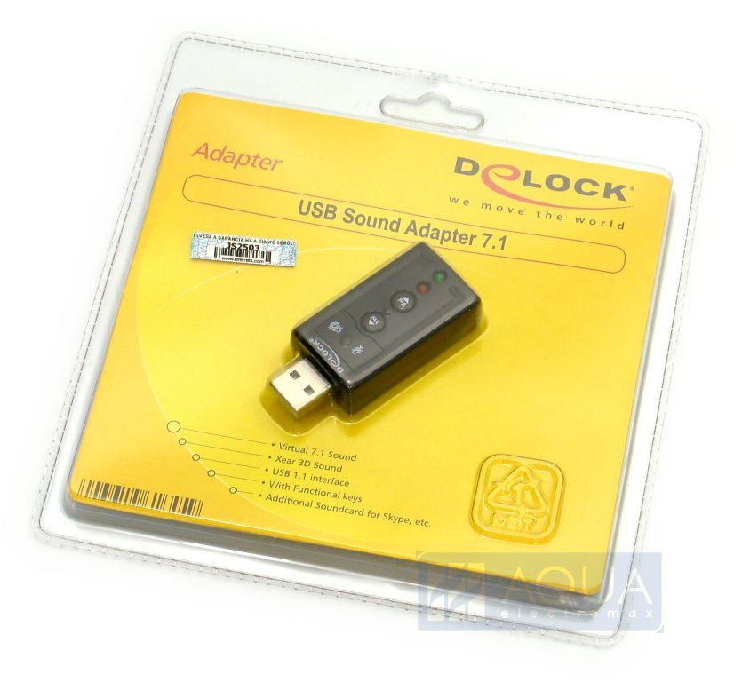 DeLock DL61645 Sound Adapter 7.1 USB2.0