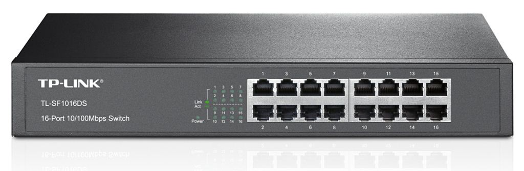 TP-Link TL-SF1016DS 10/100Mbps 16 portos Switch