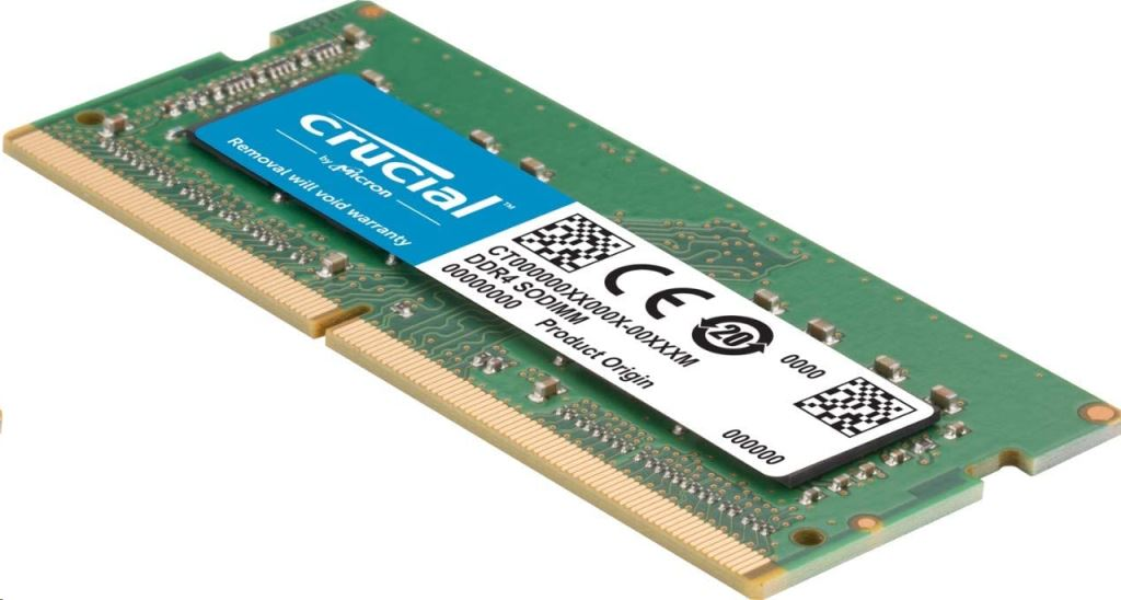 32GB 2666MHz DDR4 notebook RAM Crucial CL19 (2x16GB) (CT2K16G4S266M)