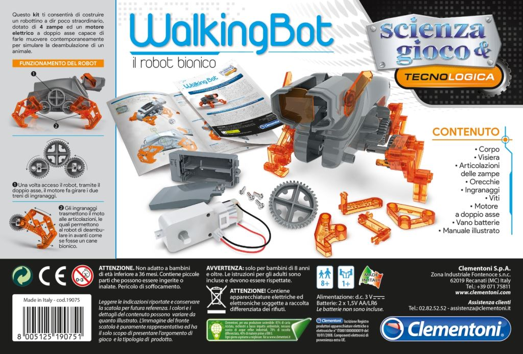 Clementoni Science & Play: WalkingBot robotfigura (50146)