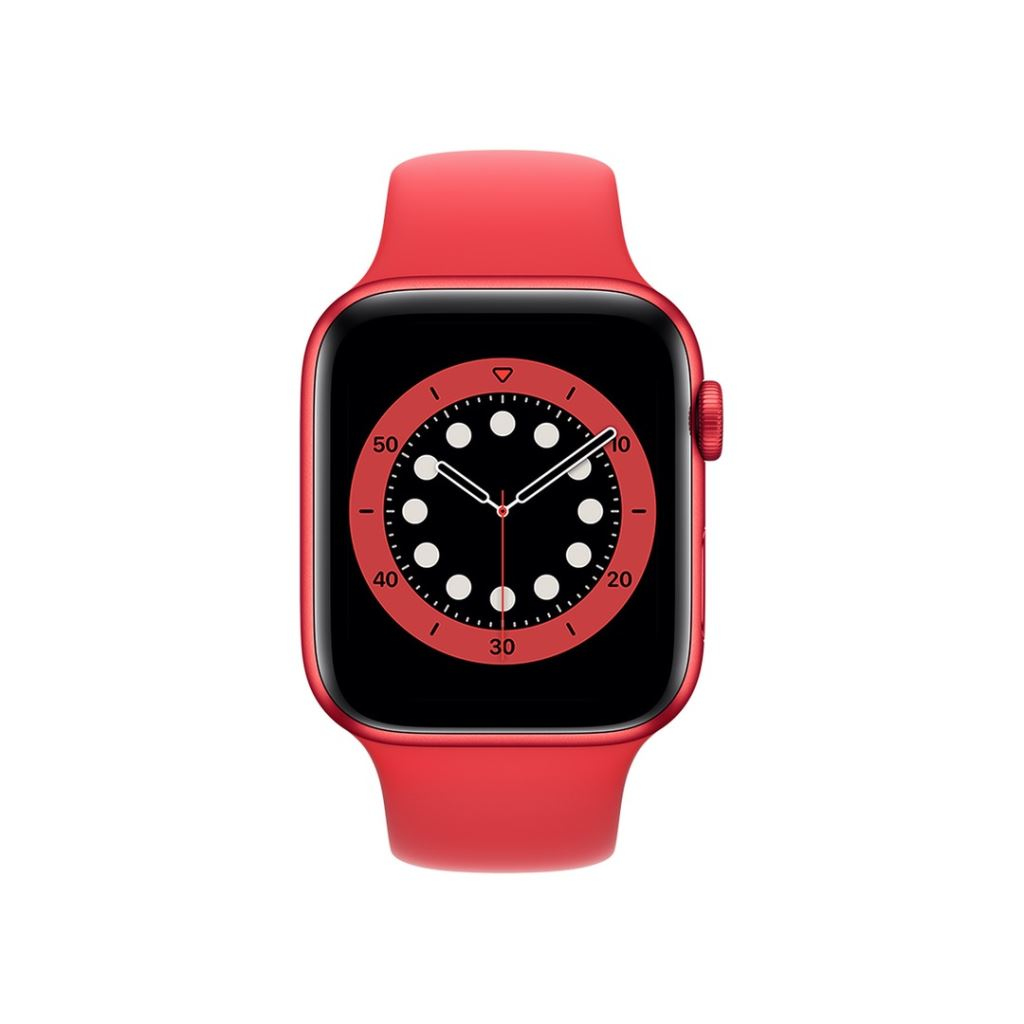 Apple Watch Series 6 GPS 44mm (PRODUCT)RED alumíniumtok, (PRODUCT)RED sportszíj (M00M3HC/A)