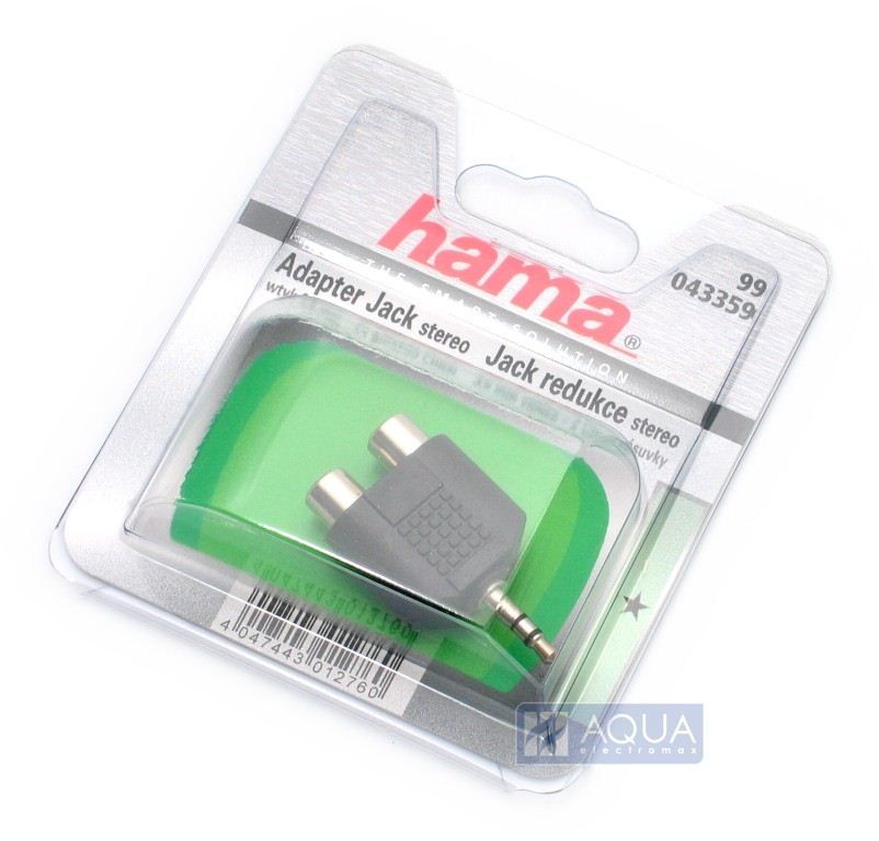 Hama 3.5 mm jack - 2RCA adapter (43359)